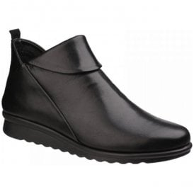 Womens Pan Damme Cashmere Black Leather Ankle Boots