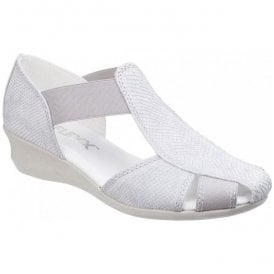 Womens Mr T Milos White Slip-On Casual Shoes