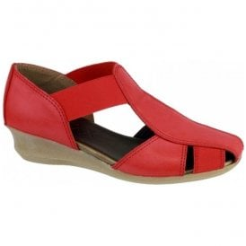 Womens Mr T Cashmere Red Closed Toe Sandals
