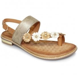 Womens Bianca Beige Toe-loop Sandals JLH906 BG