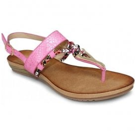 Womens Aries Pink Toe Post Fashion Sandals JLH901 PL