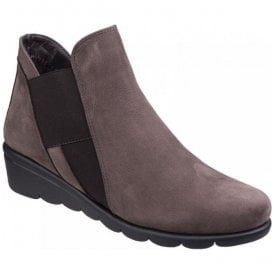 Womens Jump Brown Slip On Ankle Boots