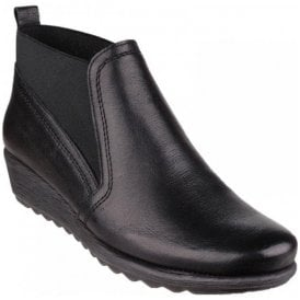 Womens Drunken Macan Black Leather Ankle Boots