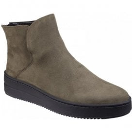 Womens Sneak On Over Khaki Platform Ankle Boots