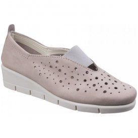 Womens Paranoia Pink Nubuck Wedge Shoes