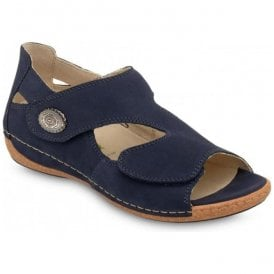 Womens Heliett Denver Blue Strap Over Sandals 342021 191 217