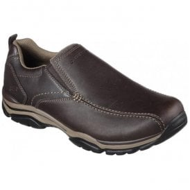 Mens Relaxed Fit: Rovato - Venten Slip On Leather Trainers 65415