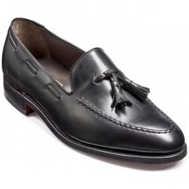 Mens Litchfield Black Slip-On Tassel Loafers