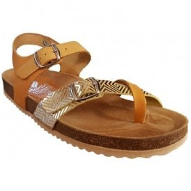 Womens Saffron Strap-Over Leather Sandals 1518 B7 B28