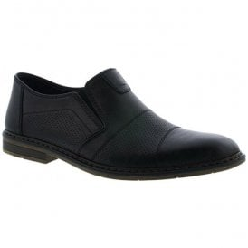 Clarino Black Leather Slip On Formal Shoes B1765-00
