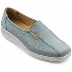 Womens Calypso Aqua Multi Leather/Nubuck Slip On Shoes
