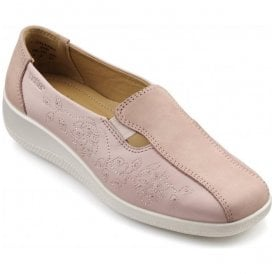 Womens Calypso Powder Pink Multi Leather/Nubuck Slip On Shoes