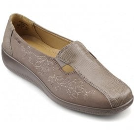 Womens Calypso Truffle Multi Leather/Nubuck Slip On Shoes