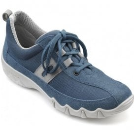 Womens Leanne Extra Wide Blue River Multi Nubuck/Suede Lace Up Shoes