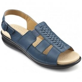 Womens Candice Extra Wide Blue River Leather Slingback Sandals