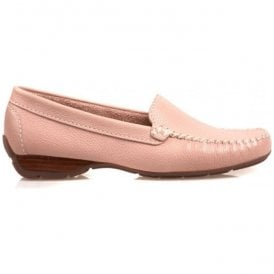 Womens Sanson Pink Casual Leather Loafer 2156950