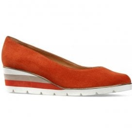 Womens Ariah Paprika Suede Slip-On Shoes 2662330