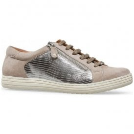 Womens Detroit Fawn Suede/Metallic Lizard Print Trainers 2849830
