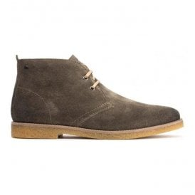 Mens Perry Olive Burnished Suede Desert Boots