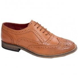 Womens Sedgwick Tan 5 Eyelet Oxford Fronted Brogue