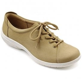 Womens Dew Extra Wide Sand Nubuck Lace Up Shoes