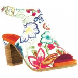 Womens Bernie 20 White Floral Leather Sandals