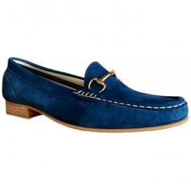 Womens Ema Ante Azul Blue Slip On Moccasin Shoes 4994