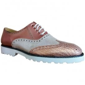 Womens Iker Pandora Rose Lace Up Brogue Shoes 6087
