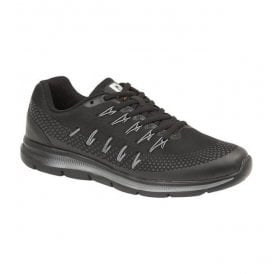 Mens Superlight Black/Grey Textile Lace Up Trainers T536A