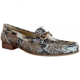Womens Ema Hawai Arce Snakeskin Slip On Moccasin Shoes 3961