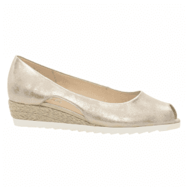Womens Roseford Metallic Powder Leather Wedge Shoes 82.630.60