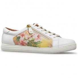 Womens Detroit White/Tropical Floral Trainers 2849020