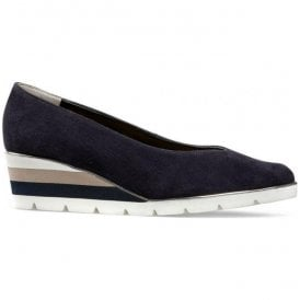 Womens Ariah Midnight Summer Suede Slip-On Shoes 2662470