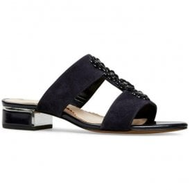 Womens Ione Midnight Suede Sling Back Sandals 2837430