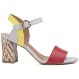 Womens Baxin Multi Leather Buckle-Up Sandals
