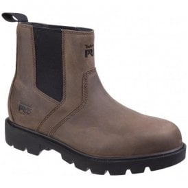 Mens Sawhorse Brown Dealer Slip-On Safety Boots