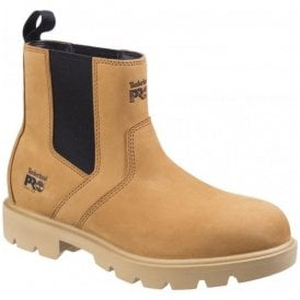 Mens Sawhorse Wheat Dealer Slip-On Safety Boots