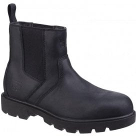 Mens Sawhorse Black Dealer Slip-On Safety Boots
