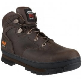 Mens Euro Hiker Brown Lace-up Safety Boots