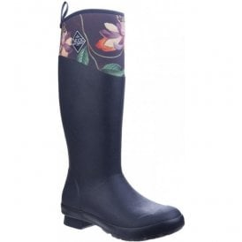 Womens Tremont RHS Print Navy Waterproof Wellington Boots