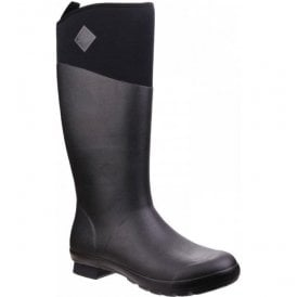 Womens Tremont Black Wellie Tall Waterproof Wellington Boots