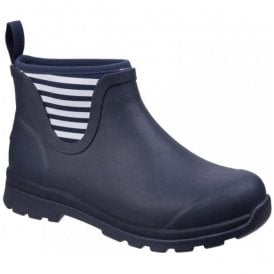 Womens Cambridge Navy Ankle Premium Rain Boots