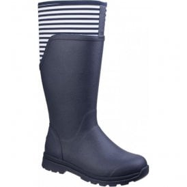 Womens Cambridge Navy Tall Versatile Premium Rain Boots