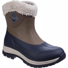Womens Arctic Apres Otter/Navy Slip-On Casual Winter Boots