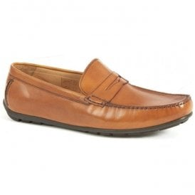 Mens Goodwood Tan Penny Loafer Driving Shoes