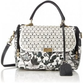Womens Doullens Noir Floral Over Shoulder Handbag