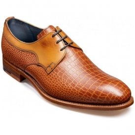 Mens Benedict Chestnut Croc/Calf Lace-Up Shoes