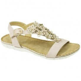 Womens Temple Pink T-Bar Sandals JLY064 PK