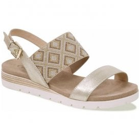 Womens Gipsy Light Gold Multi Leather Sandals 9-28604-20 970