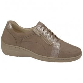 Womens Hania Beige Platin Nubuck Walking Shoes 931003 202 060